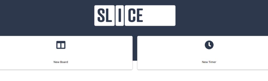Ferramentas online para trabalho remoto: Slice